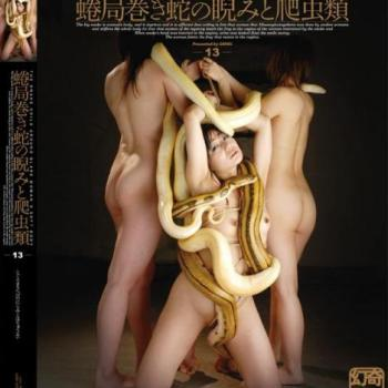 Genki – DGEN013 The snake coils around glare woman's soft body