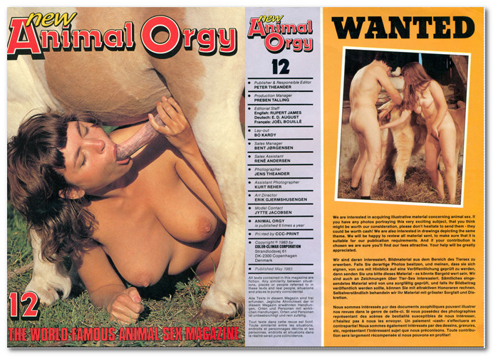 Animal Orgy 12 – Vintage Zoo Magazines