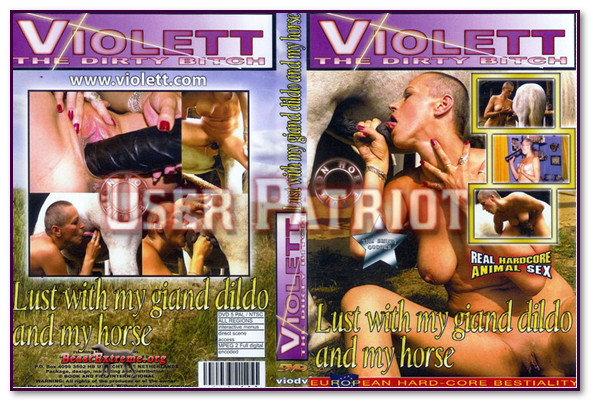 Violett – Lust with my giand dildo and my horse